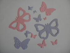 12 Die Cut Card Stock Butterflies Stampin Up Sizzix  Scrapbooking Card Making