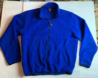 LL BEAN Fleece Jacket Mens Size XLT XL Tall Royal Blue Full Zip Up L.L. Bean