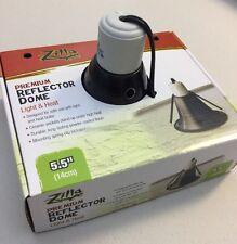 """Zilla Premium Reflector Dome Heat Light 5.5"""" Reptile Lamp W/Springs 60 watt max"""