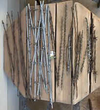 "VINTAGE METAL 33 BARBED WIRE FENCE COLLECTION SAMPLES 9""-24"" F/S"