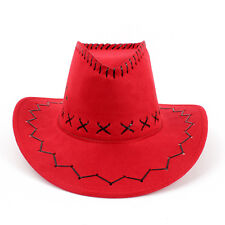 Unisex Cowboy Bucket Brim Western Knight Hat with Cord Felt Fancy JX