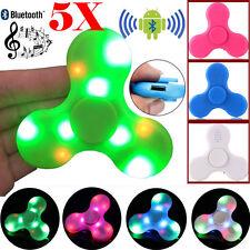 5X LED Light W/ Bluetooth Speaker Hand Fidget Spinner Gyro Desk Toys For Anxiety