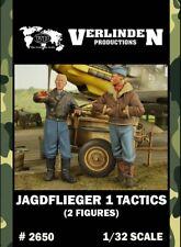 Verlinden 1:32 Jagdflieger 1 Tactics - 2 Resin Figures Kit #2650