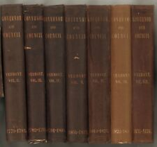 WALTON: Records of the Governor and Council of the State of Vermont: 2-8 VOLS.