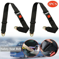 2Pcs Adjustable Seat Belt Car Truck Bus Lap Belt Universal 2 Point Safety Travel