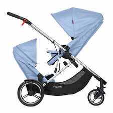 Phil & Teds New Voyager Stroller & Double Kit Blue Marl Brand New Model!!