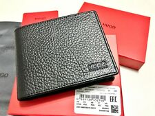LUXURIOUS MEN'S HUGO BOSS WALLET 'Victorian_Trifold' Black RED BOX W/TAGS