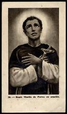 """santino-holy card""""S.MARTINO DE PORRES"""
