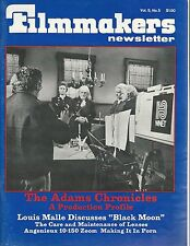 Filmmakers Newsletter Mar1976~Adams Chronicles~Care and Maintenance of Lenses