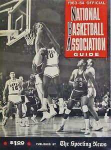 1963-64 TSN Official NBA Guide - St. Louis Hawks Vs. Cincinnati Royals Cover