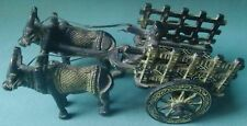 BRASS METAL BULL CART CARRIAGE VINTAGE SHOWPIECE GIFT ITEM HOME DECOR STATUE ART