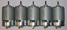 5 X Mabuchi 555 DC Motor - Wind or Water Turbine Generator - 12V - 1V per 500RPM