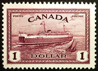 Canada #273 $1 Red Violet 1946 VF *MLH*  Post Office Fresh