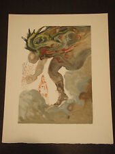"Salvador Dali Divine Comedy Color Woodcut - ""Les Geants"" - Enfer #31"