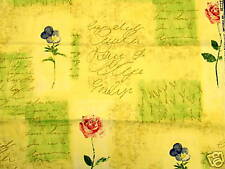Waverly Rue D' Orleans  Beach Cottage Script Yellow,  Upholstery Drapery Fabric