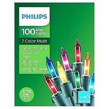 Philips 100 MULTI  MINI LIGHTS Indoor Outdoor Christmas ~ 7 COLOR MULTI ~  NIB