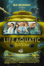 24X36Inch Art THE LIFE AQUATIC WITH STEVE ZISSOU Movie Poster Bill Murray P01