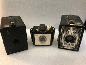 Kodak Six-20 Brownie No.2 Hawkeye Junior Bullet 1930s Art Deco Box Camera nr LOT