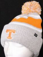 NEW Tennessee Volunteers Vols Gray Knit Zephyr Beanie Cap Pom Stocking Hat OSFA