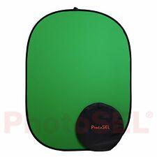 PhotoSEL BD111G Studio Chroma Key Green Screen Collapsible Background 1.5m x 2m