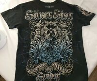 Silver Star Casting Company Black Graphic T Shirt Size S