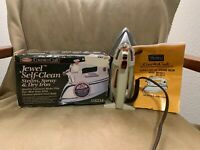 VINTAGE IN BOX JEWEL SELF-CLEAN STEAM SPRAY DRY IRON COUNTER CRAFT SEARS