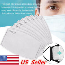 100-500Pcs Pm2.5 Activated 6 Layer Face Cover Protection Filter Pad Replaceable