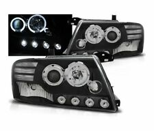 HEADLIGHTS LPMI08 MITSUBISHI PAJERO V60 2001-2006 ANGEL EYES BLACK RHT