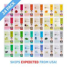 [24 Value Pack] Dermal Korea Collagen Essence Full Face Facial Mask