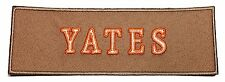 Ghostbusters YATES Name Tag Tan Embroidered Iron On Patch