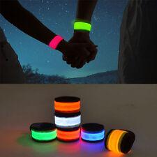 Fashion LED Light Strap Wrist Slap Armband Ankle Night Running Ride Glow Safety