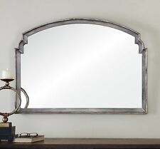 "NEW LARGE 42"" AGED SILVER LEAF WALL VANITY MIRROR VINTAGE CONTEMPORARY STYLE"