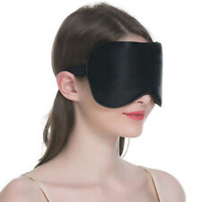 1PC New Pure Silk Sleep Eye Mask Padded Shade Cover Travel Relax Aid Blindfol BA