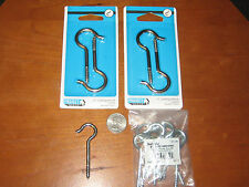 Lot Ceiling Hooks: 10 True Value Hardware 2 &9/16in hooks & 4 Liberty 3 in hooks