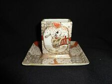 Small Vintage Japanese Hand Painted Porcelain Holder