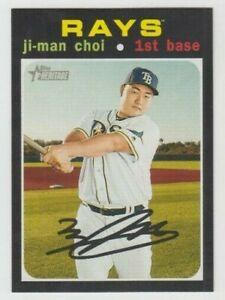 (12) Ji-Man Choi 2020 TOPPS HERITAGE BASE CARD LOT #226 TAMPA BAY RAYS