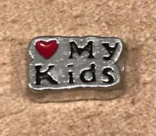 Love My Kids Floating Charm fits Glass Memory for Mom Locket BUY 3, GET 1 FREE