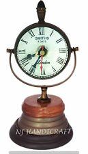 Antique Brass Desk Table Clock Vintage Handmade Nautical Smith Watch Home Decor