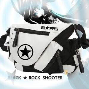 Black Rock Shooter Anime Cosplay Canvas Shoulder Bag Crossbody Bag Messenger Bag