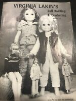 Virginia Lakin's DOLL KNITTING & CROCHETING MAGAZINE Book 10 Vintage ©1971