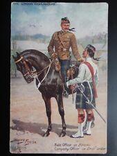 Harry Payne THE GORDON HIGHLANDERS Field Officer in Kharki c1917 Pub by R. Tuck