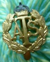ATS Auxiliary Territorial Service Cap Badge KC Slider BRASS