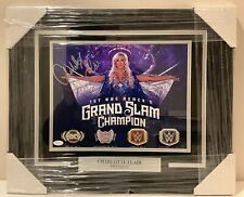 Charlotte Flair Autographed Signed Framed 11x14 Women's Grand Slam Champ JSA Wwe