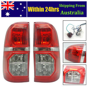 Pair of Rear Tail Back Light Brake Lamp with Golbes For Toyota Hilux 2005-2015