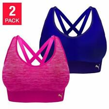 24cac655aed5f Women €™s Puma 2 Pack Seamless Sports Bra Blue Pink NEW SMALL