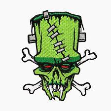Frankenstein's Monster Skull & Crossbones Patch Kreepsville Art Iron-On Applique