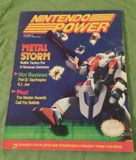 NINTENDO POWER MAGAZINE VOL 22 MARCH 1991 METAL STORM W/BATTLETOADS POSTER