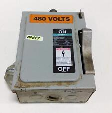 SIEMENS I-T-E ENCLOSED SWITCH HEAVY DUTY 30AMPS 600VAOLTS H.P 71/2 NF351 SER A
