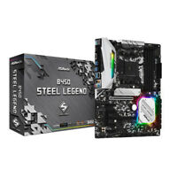 ASRock B450 Steel Legend AMD Socket AM4 ATX M.2 DDR4 RGB USB C 3.1 Motherboard