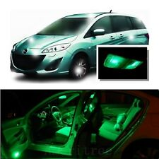 For Mazda 5 2006-2010 Green LED Interior Kit + Green License Light LED